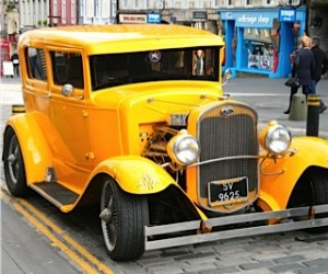 yellow custom car edinburgh
