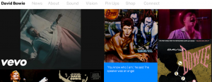 Bowie website