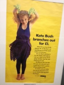 Kate Bush rail poster