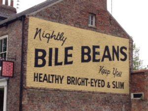 Bile Beans advert on house
