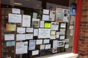 Ads in shop window