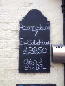 Pub chalkboard sign