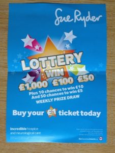Sue Ryder lottery leaflet