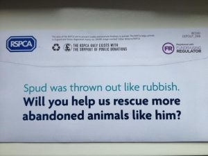 RSPCA envelope