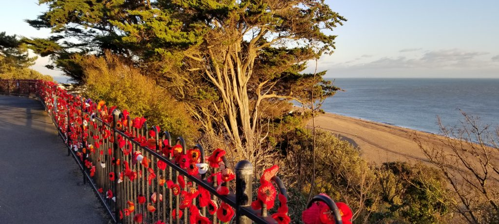 Remambrance Poppies on the Leas Folkestone