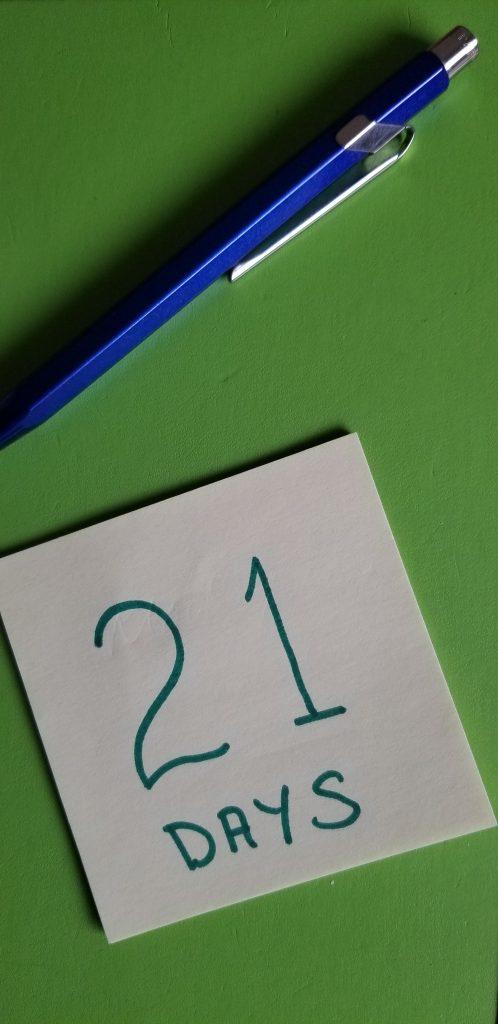 21 Day Writing Challenge