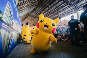Pokemon bouncing Pikachu